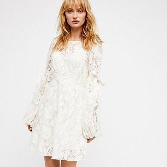 233a96ea5ce81 Free People ruby lace dress cream slip inside l s